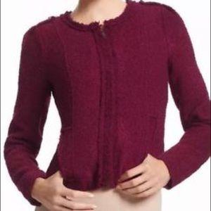 CAbi #530 burgundy Britt Boucle Jacket size 6